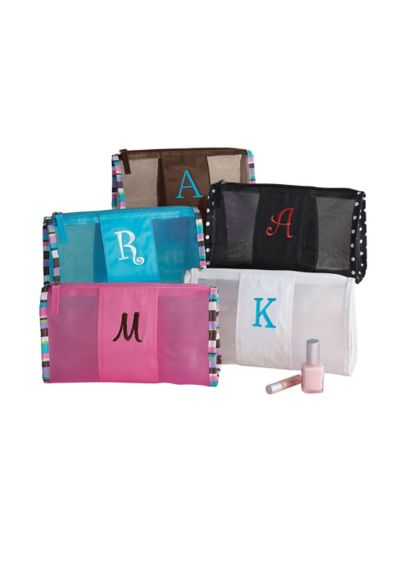 DB Exclusive Personalized Mesh Cosmetic Bag - Wedding Gifts & Decorations