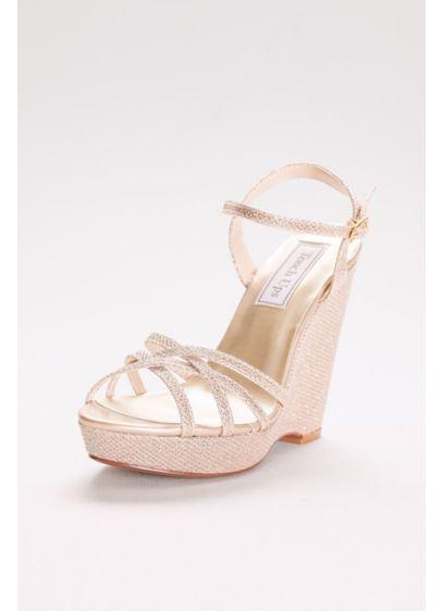 Touch Ups Grey (Jaden Shimmer Quarter Strap Wedge Sandals)