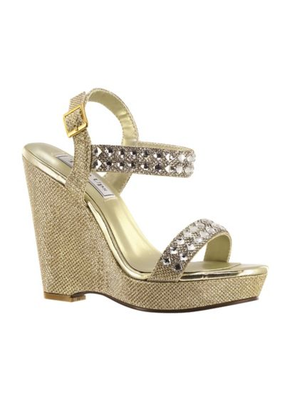 High Platform Wedges with Crystal Embellishments 4164