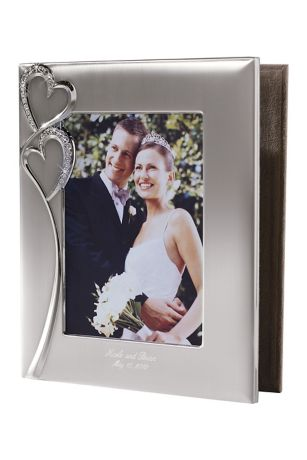 Personalized Twin Hearts Photo Album - Carry the romantic twin hearts theme with this