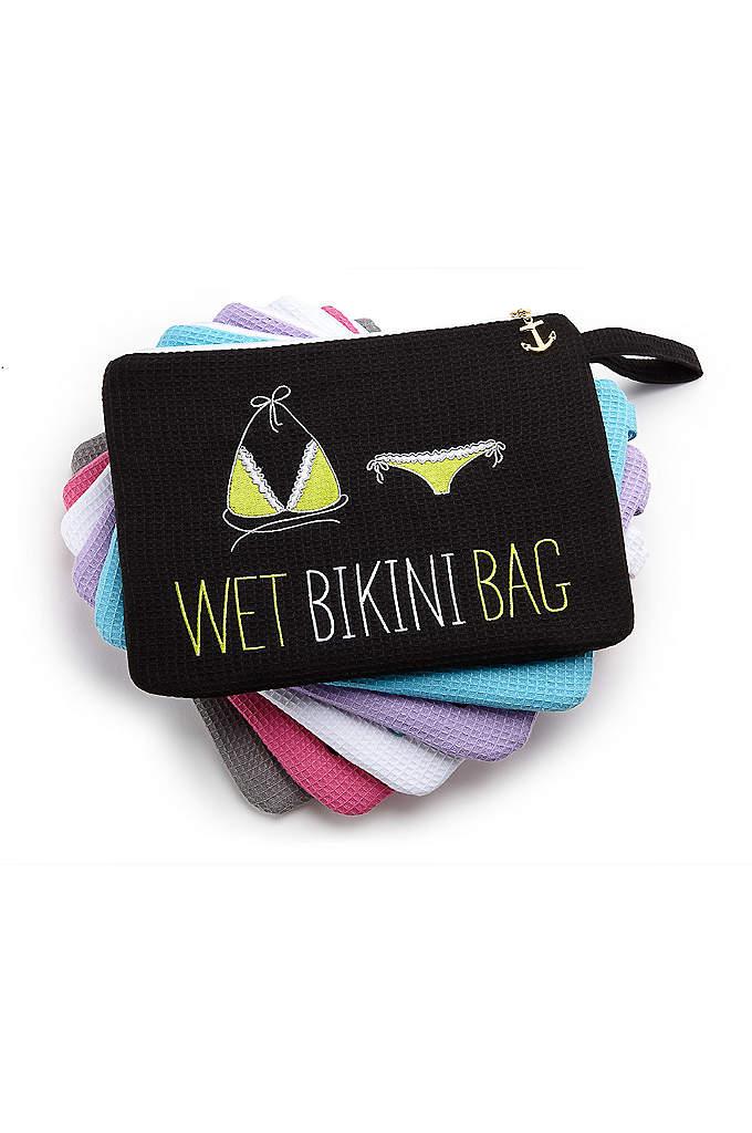 Personalized Waffle Wet Bikini Bag - The Waffle Wet Bikini Bag is a fab