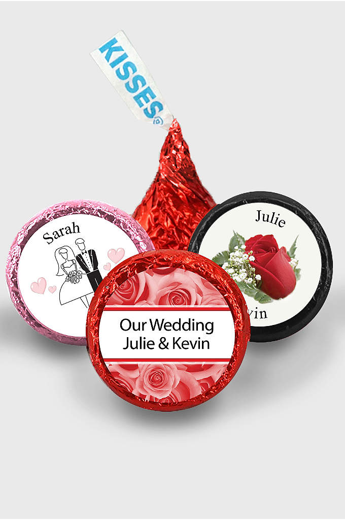 Pers Classic Wedding Colored Foil Hershey's Kisses - Hard to resist, Hershey's Kisses are a perfect