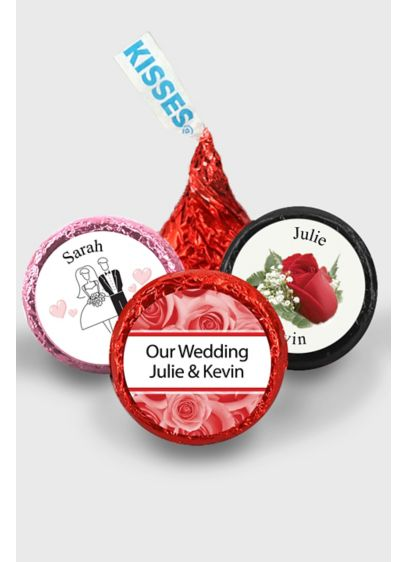 Pers Classic Wedding Colored Foil Hershey's Kisses - Wedding Gifts & Decorations