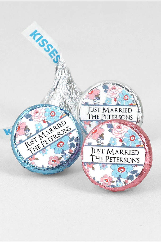 Personalized Floral Pattern Hersheys Kisses - Personalized Hershey's Chocolate Kisses are wedding favors that