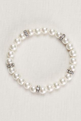 Pulsera de Perlas Con Cristales