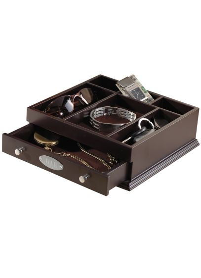Personalized Indispensible Wooden Valet - Wedding Gifts & Decorations