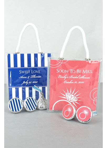 DB Exc Personalized Hershey Kisses Mini Gift Tote - Wedding Gifts & Decorations