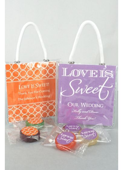 DB Exc Personalized Life Savers Candy Mini Tote - Wedding Gifts & Decorations