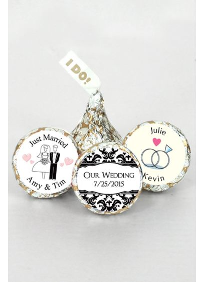 Pers I DO Classic Wedding Silver and Gold Kisses - Wedding Gifts & Decorations