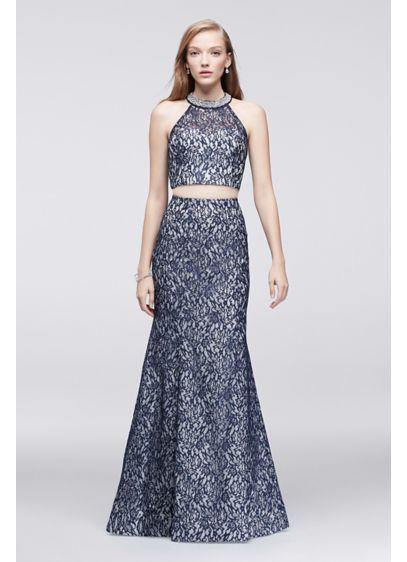 Long Mermaid/ Trumpet Halter Formal Dresses Dress - My Michelle