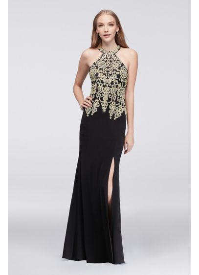 Long Sheath Halter Prom Dress - My Michelle