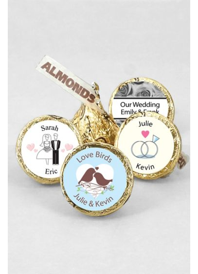 Pers Classic Wedding Gold Kisses with Almonds - Wedding Gifts & Decorations