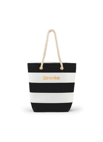 Personalized Bliss Striped Tote - Wedding Gifts & Decorations
