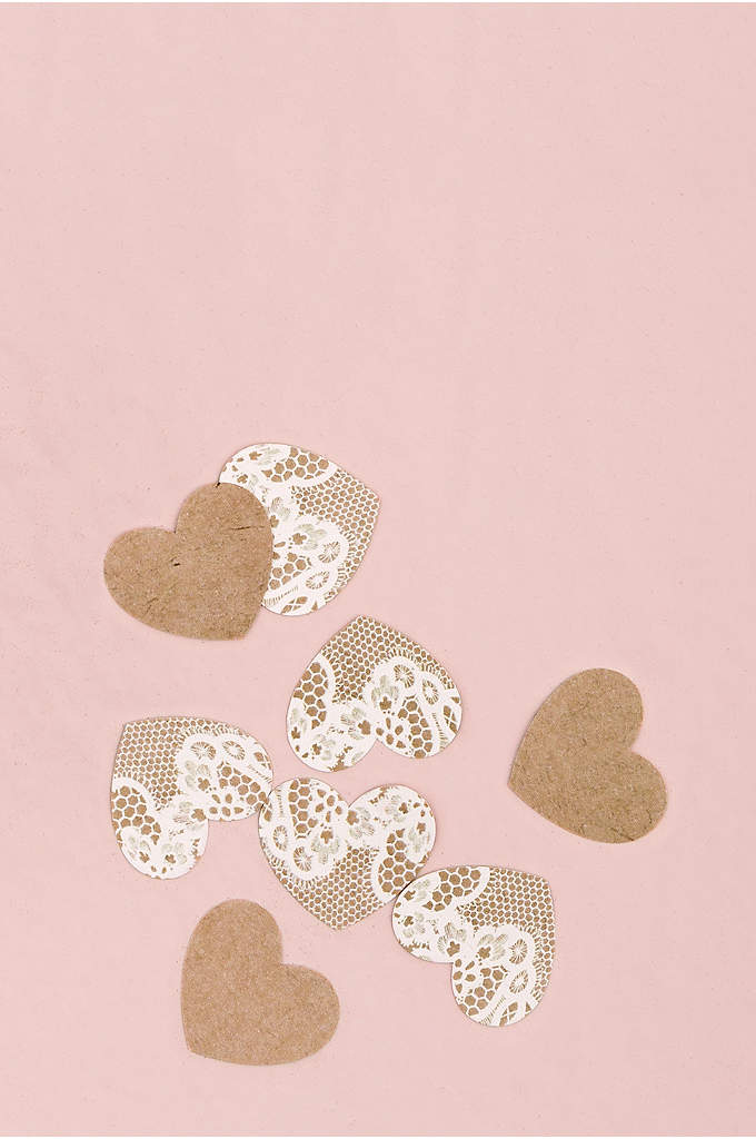 Kraft Paper With Lace Heart Confetti - Budget friendly and easy to use, this Kraft