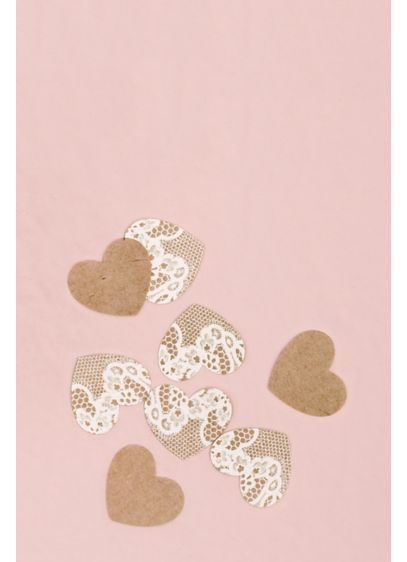 Kraft Paper With Lace Heart Confetti - Wedding Gifts & Decorations