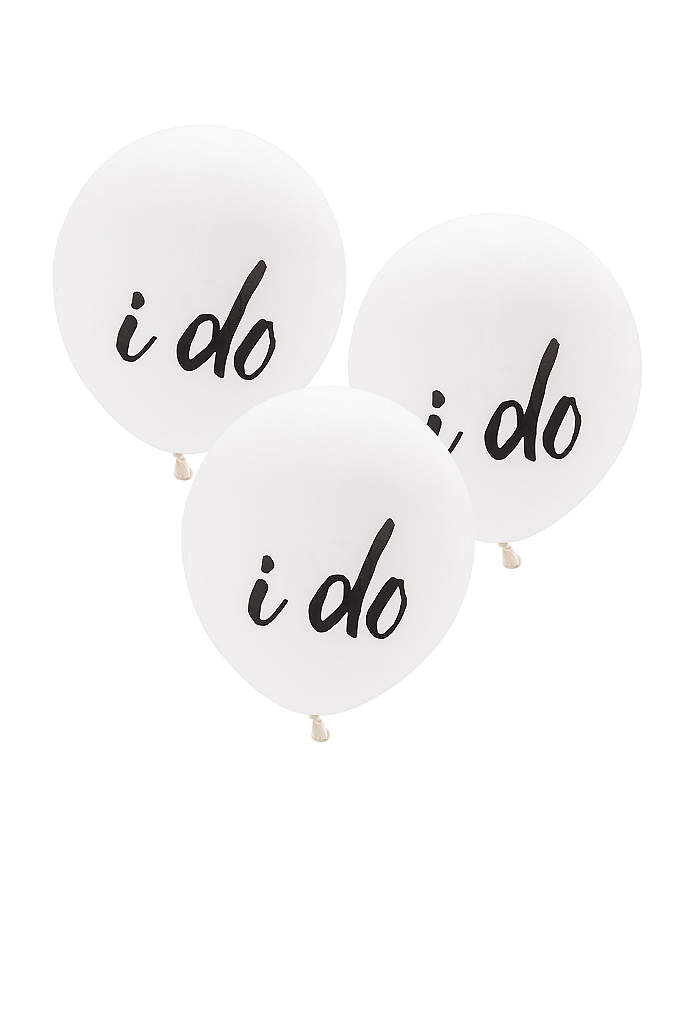 17 Inch White Round I Do Balloons Set - You can't say I do without these White