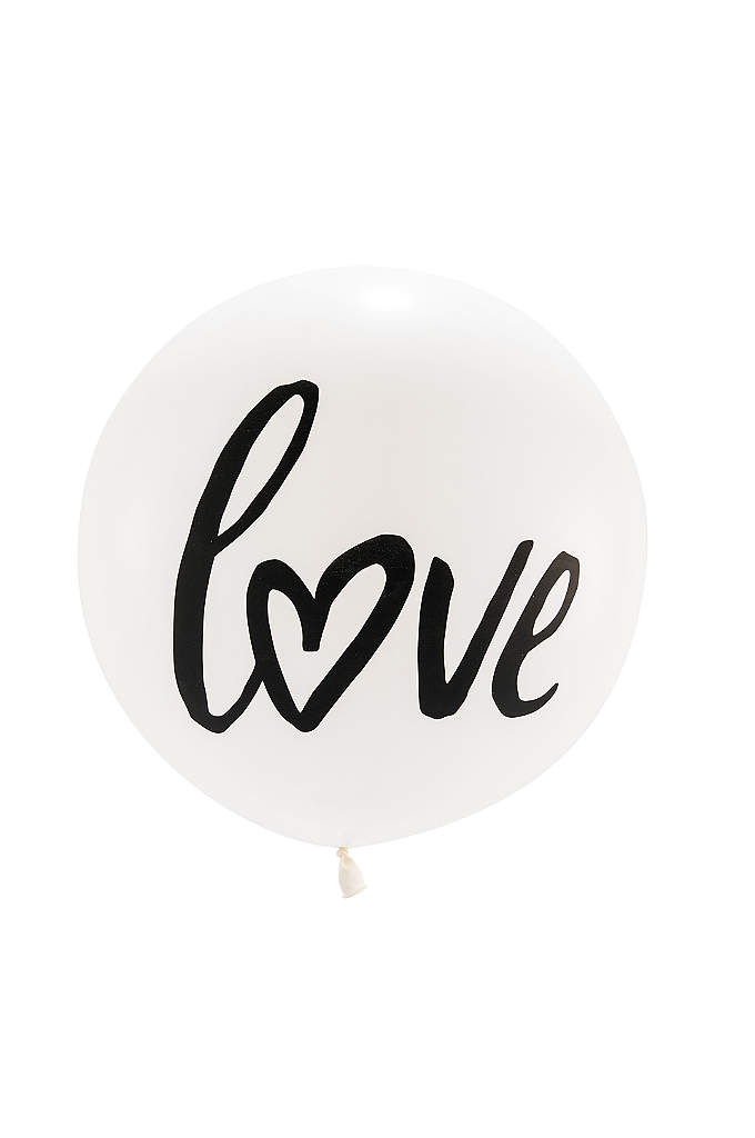 36 Inch Jumbo White Round Love Balloon - These 36