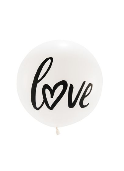 36 Inch Jumbo White Round Love Balloon - Wedding Gifts & Decorations