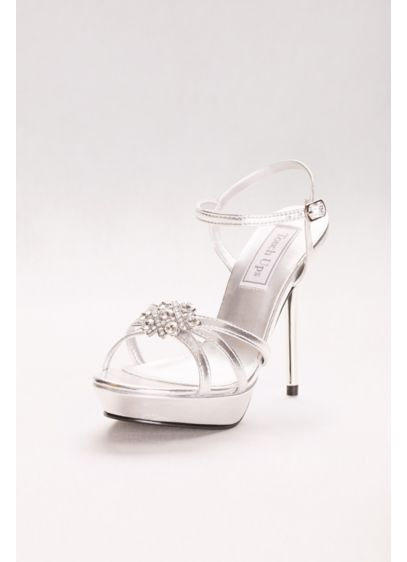 Touch Ups Grey (Katie Metallic Platform Sandal with Crystal Detail)