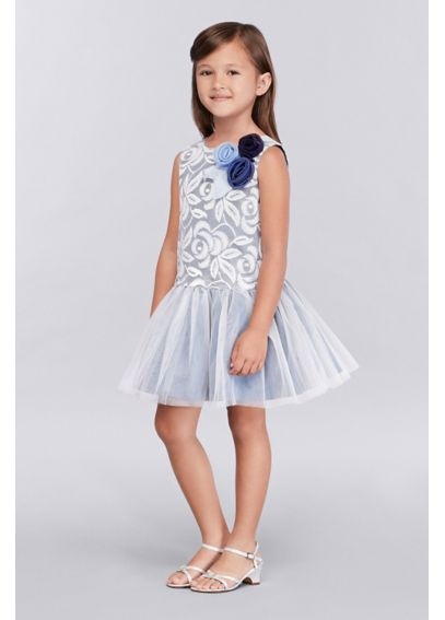 Lace Girls Dress with Tulle Skirt 46336905