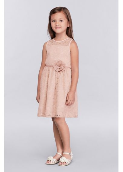 Lace Girls Dress with Tie-Back Sash 46395105