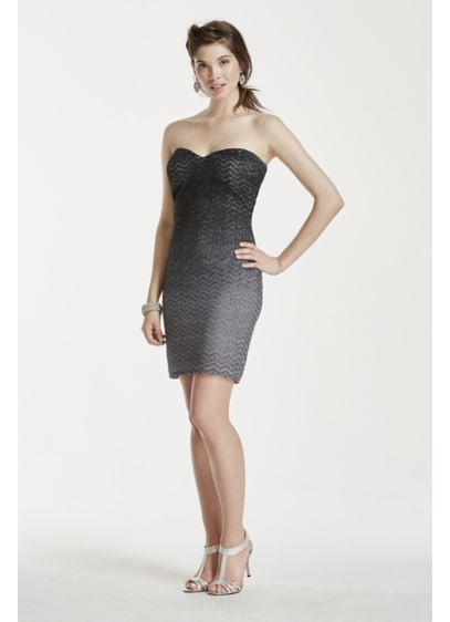 Short Sheath Strapless Prom Dress - Jump