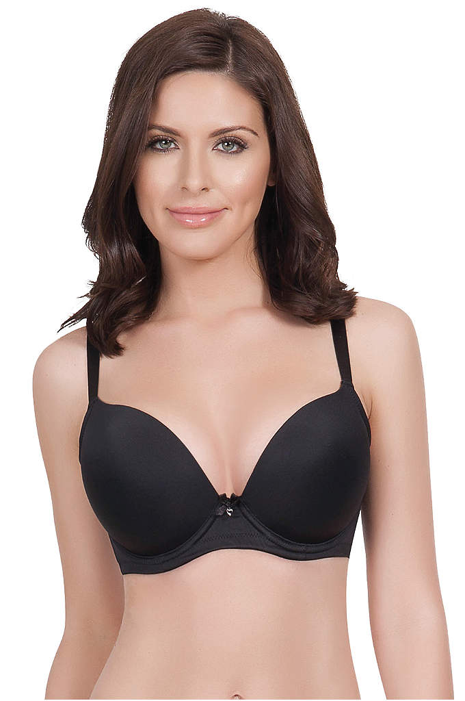 Parfait Jeanie Plunge Bra - Plunging seamless cups combined with smooth microfiber make