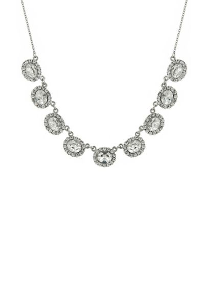 Oval Crystal Collar Necklace - Wedding Accessories