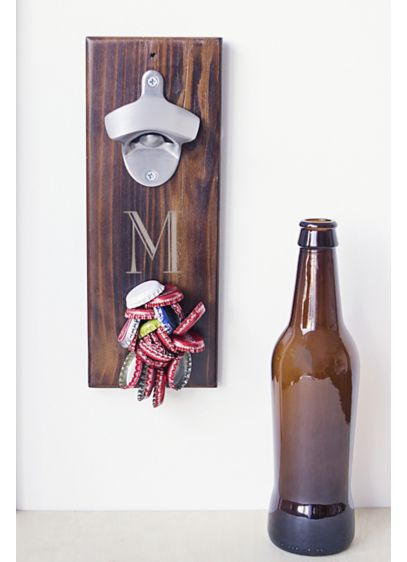 Personalized Wall Mount Bottle Opener Cap Catcher - Wedding Gifts & Decorations