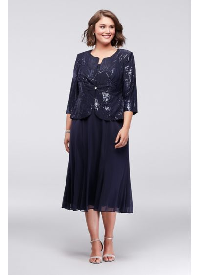 Tea Length 0 Jacket Formal Dresses Dress - Alex Evenings
