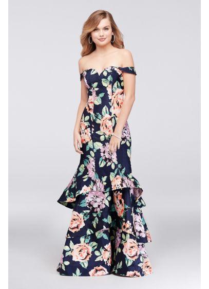Long Mermaid/ Trumpet Off the Shoulder Formal Dresses Dress - Sequin Hearts