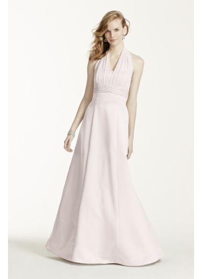Long Grey Structured David's Bridal Bridesmaid Dress