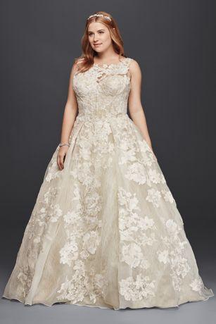 V back lace wedding dress