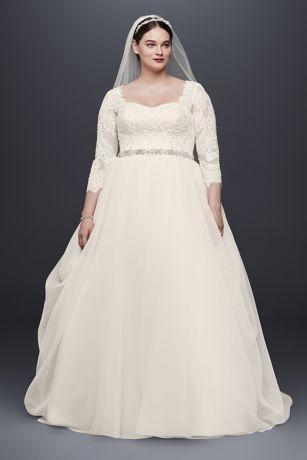 One sleeve plus size wedding dress
