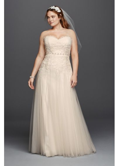 Melissa Sweet Plus Size Wedding Dress with Beading 4XL8MS251130