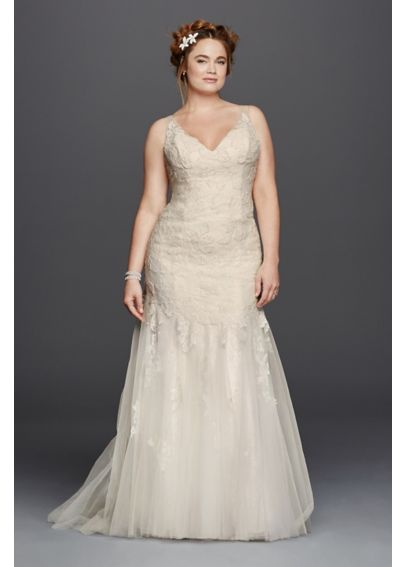 Melissa Sweet Illusion V-Neckline Wedding Dress  4XL8MS251150