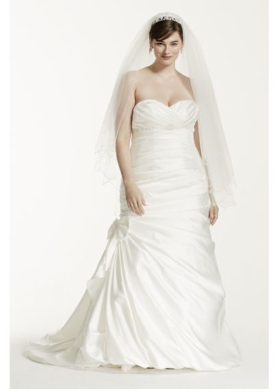 Mermaid Plus Size Wedding Dress with Beaded Detail 4XL9V3204