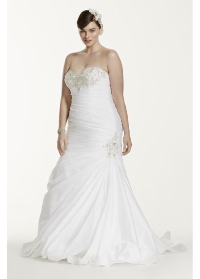 Sweetheart Taffeta Plus Size Trumpet Wedding Dress 4XL9V3476