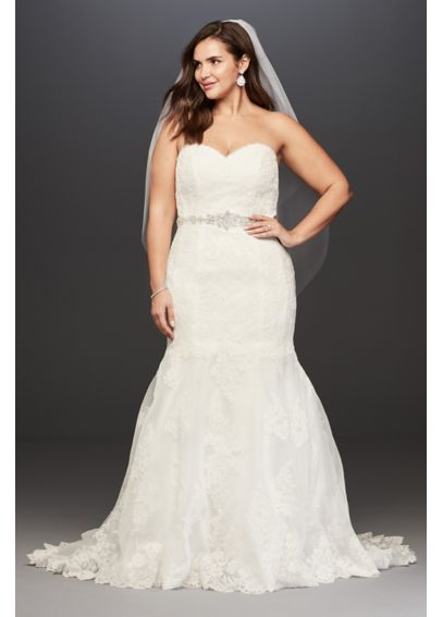 Sweetheart Lace Trumpet Plus Size Wedding Dress 4XL9V3680
