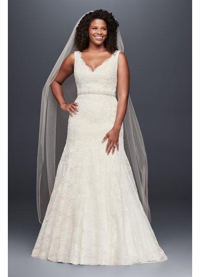 Long Mermaid/ Trumpet Wedding Dress - Jewel