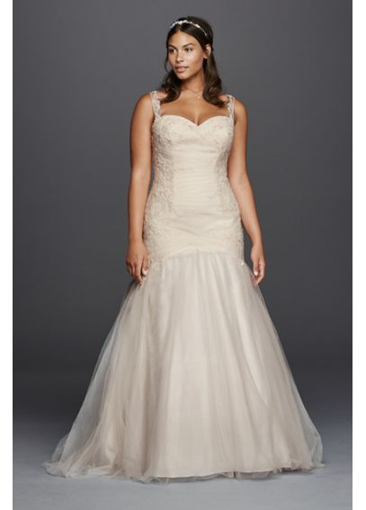 Illusion Bodice Wedding Dress with Tank Straps 4XL9WG3792