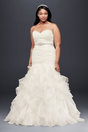 Mermaid wedding dresses lace plus size