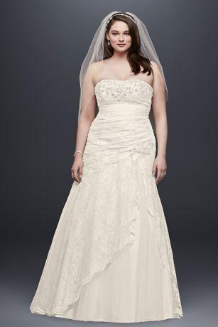 Ivory Lace Strapless Dress