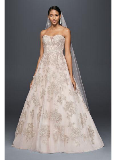 Long Ballgown Beach Wedding Dress - Oleg Cassini