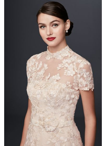 Long A-Line Romantic Wedding Dress - Oleg Cassini