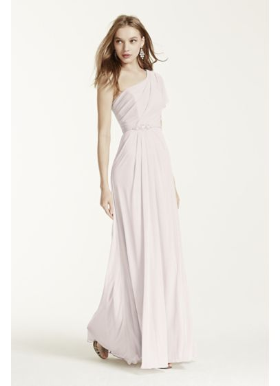 Long Ivory Soft & Flowy David's Bridal Bridesmaid Dress