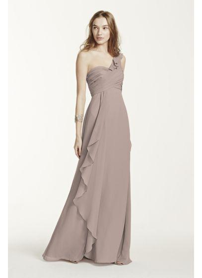 Long Ivory Soft & Flowy David's Bridal Bridesmaid Dress