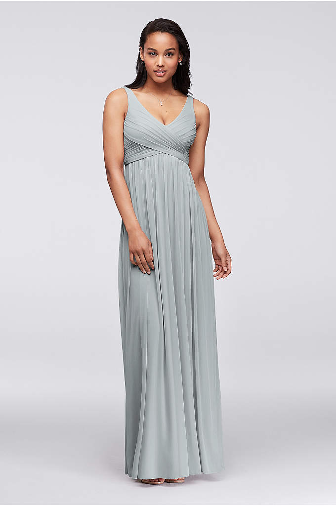 Extra Length Mesh Dress with Cowl Back Detail - A breezy dress that will flatter any silhouette!