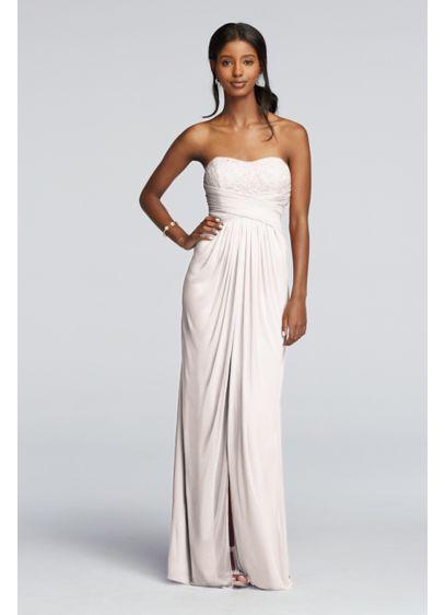 Pink Soft & Flowy David's Bridal Bridesmaid Dress
