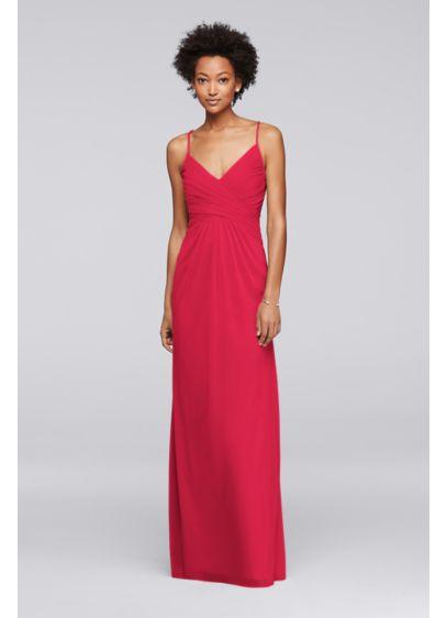 Red David's Bridal Bridesmaid Dress